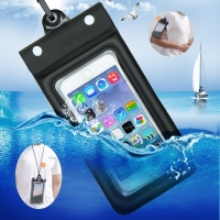 6.5 Inch Float Airbag Waterproof Swimming Bag Mobile Phone Case Cover Dry Pouch Universal Diving Drifting Riving Trekking Bags