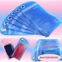 5 pcs Swimming Surfing Waterproof Bag Outdoor Rafting Drifting Phone Card Dry Bag for Cellphone Mobile Phone ID Card