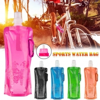 Portable Ultralight Foldable Silicone Outdoor Sports Water Bag Sport Supplies Hiking Camping Soft Flask Water Bag Sac Etanche