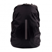 30 To 40 L Backpack Rain Cover Outdoor Night Safety Reflective Rain Cover Waterproof Function Black Color Easy To Carry
