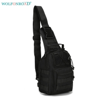 WOLFONROAD Men Mini Cycling Bag Camouflage Tactical Chest Bags Cross Body Shoulder Bag Outdoor Messenger City Jogging Bags