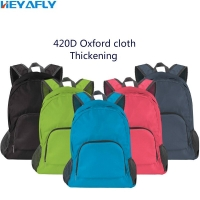 Folding Shoulder Bag Backpack 420D Oxford Cloth Wrap Thickened Changing Shape Handbag Package Order 30 Pcs Free LOGO