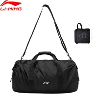 Li-Ning Training Bag Gym 500*280*290mm Nylon Polyester Foldable Travel Handbag LiNing li ning Sports Bags Daypack ABDP304 BJF148