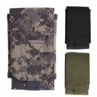 Mini Molle Army Camo Camouflage Bag For Up To 5.5 Inch Phone With Hook Loop Belt Pouch Holster Cover Case US#V