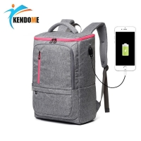 Men's Outdoor Athletic Bags USB Charge Backpacks Travel Back Pack Unisex Walking Shoulder Bags Large Capacity Sports Rucksack