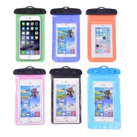 Waterproof Swimming Pouch Bags Lanyard With Luminous Underwater Pouch Phone Case For 5.5-inch Following Sizes All Phones