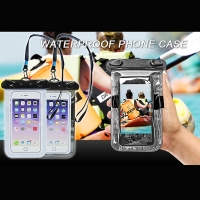 5.5 inch Inflatable Waterproof Mobile Phone Bag with Strap Dry Pouch Cover for iPhone 8 7 6s  Samsung Galaxy TPU Swimming Cases