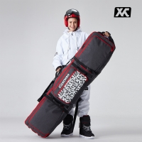 XCMAN Roller Snowboard Bag with Wheels Adjustable Length for Air Travel - Extra Long/Wide/Deep,Waterpeoof - with ABS Protection