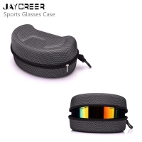 JayCreer Ski Goggles Bag Case Hard Box Zipper Buckle Carrying Holder EVA Bag Protection For Ski Goggle Sunglasses