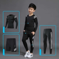 Kids Sports Running Set 2021 Sportswear Men Sport Suit Basketball Jogging Clothes Tights Gym Training Football Training Clothes