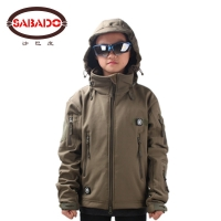 Waterproof outdoor camo Waterproof children TAD Tactical Shark Skin Softshell hunting jacket kids Army coats hunting jackets