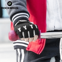 ROCKBROS Cycling Gloves For Children Summer Balance Bike Roller Skating Breathable SBR Shockproof Half Gloves Bike Equipment