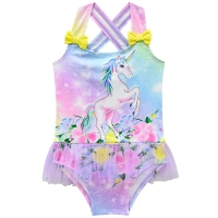 New 2020 One Piece Girls Swimwear Lovely Child Swimsuit For Baby Kids Swimming Skirt High quality Kids Beachwear