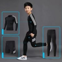 YD-FU Thermal Skiing Winter Boys Underwear Sets Kids Functional Shirts and Pants Girls Sports Set