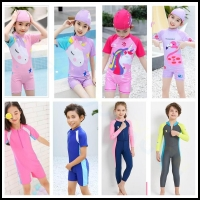One-Piece Kids Diving Suit long Sleeves Swimsuit girl Child Full Body Wetsuit Keep Warm UV Protection Swimwear boy Surfing suit