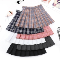 Girls A Lattice Short Dress High Waist Pleated Sports Tennis Skirt Uniform Female Sport Training Skirt For Badminton Cheerleader