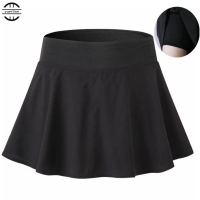Women Girl's MINI Tennis Skirts,with Bottom Shorts Anti Emptied A-type Sports Skirts Running&Jogging&Fitness Two-piece Culottes