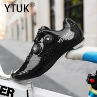 YTUK Double Buckles Cycling Shoes MTB Road Bike Shoes Breathable Luminous Self-Locking Bicycle Shoes Professional Cycling Sports