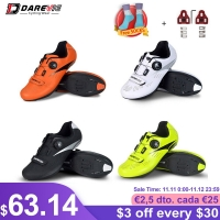 Darevie Road Cycling Shoes Light Pro Cycling Shoes Breathable Anti Slip Bicycle Shoes Racing High Quality Bike Shoes LOOK SPD-SL