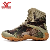 XIANG GUAN Walking Shoes Men Waterproof Climbing Mountain Tactical Boots Women High Low Bionic Outdoor Sports Trekking Sneakers