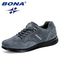 BONA New Arrival Style Men Walking Shoes Lace Up Men Sport Shoes Outdoor Jogging Sneakers Comfortable Light Soft Free Shipping