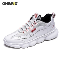 ONEMIX Travel Shoes Breathable Comfortable Pig Leather Slip-on Flat Shoes Women Sneakers For Outdoor Walking Trekking Shoes