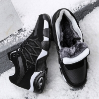 Winter Snow Boots Men Winter Shoes Plush with Fur Super Warm High Top Walking Sports Ski Sneaker