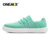 ONEMIX Unisex Flat Sneakers Women Summer Breathable Lightweight Men Slip On Lazy Shoes Couples Walking Jogging Loafers Size 43