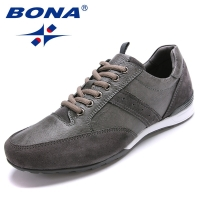 BONA New Style Men Walking Shoes Lace Up Men Shoes Outdoor Jogging Sneakers Microfiber Men Loafers Light Soft Fast Free Shipping