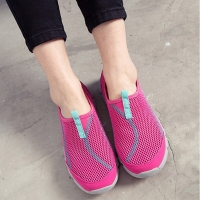 Leisure Sport Shoes Women Soft Anti slip light wearable mesh breathable Sneakers Female comfort Shoes blue pink 35 36 37 38 40