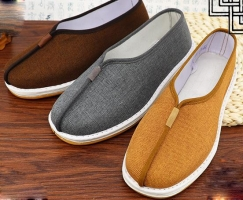 high-grade Cotton&linen monk shoes shaolin monks shoes lay meditation zen nun martial arts lohan/arhat sneaker gray/brown/yellow
