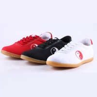 USHINE AW01 EU34-45 Black Red White Canvas Gymnastics Outdooring KungFu TaiChi Training Shoes Men Women