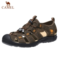 CAMEL Men's Waterproof Hiking Sandals Closed-toed Wading Shoes Sports Sandals Men's Outdoor Beach Shoes Мужские сандалии движени