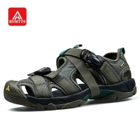 HUMTTO Outdoor Beach Shoes Sandals Men Sneakers Summer Lightweight Closed Toe Platform Trekking Shoes Hook & Loop