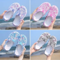 Summer Women's Sandals Quick Dry Beach Clogs Water Shoes Breathable Home Anti-Slip Slippers