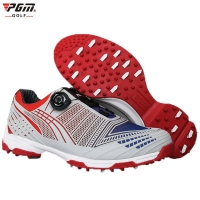 Pgm Golf Shoes Men Sports Shoes Waterproof Male Sports Shoes Knobs Buckle Shoelace Breathable Anti slip Men Training Sneakers-in
