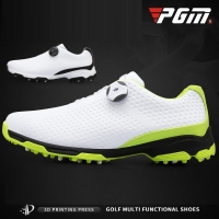 PGM Golf Shoes Mens Waterproof Breathable Training Sneakers Male Rotating Shoelaces Sports Spiked Trainers Golf Shoes