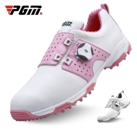 Pgm Golf Shoes Womens Lightweight Knob Buckle Shoelace Shoes Waterproof Breathable Sneakers Ladies Non-Slip Trainers Shoes