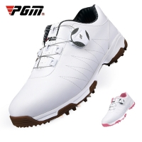 Women'S Golf Shoes Leather Golf Shoes Slip Resistant Waterproof Sneakers Spikes Nail Breathable Lightweight Soft Shoes