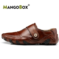 2020 New Sale Men Golf Shoes Brown Leather Golf Men Sneakers Top Quality Youth Sport Shoes Rubber Anti-Slip Mens Golf Gym Shoes