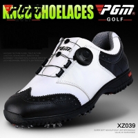 2020 Genuine Leather Golf Shoes Men Laces Send Activities Nail Automatic Revolving Sneakers Spikes Breatheble Golf Shoes AA51035
