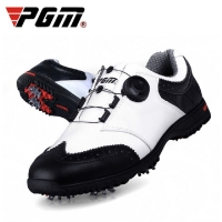Pgm Golf Mens Shoes Comfortable Knob Buckle Golf Men'S Shoes Waterproof Genuine Leather Sneakers Spikes Nail Non-Slip Shoes