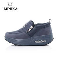 New Wedge Sneaker Slimming Toning Shoes Slip On Thick Bottom Increase Blue Women Fitness Shoes Shock Swing Shoes Walking