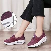 New Thick Sole Shaky Shoes Women Leisure Walking Rocking Shoes Shaping Wedge Platform Wedge Sneakers Woman Healthy Fitness Shoes