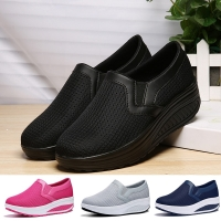 Women Toning Shoes 5cm Increase Height Footwear Fitness Women Shoes Black High Heels For Female Sneakers Thick Sole Sports Shoes