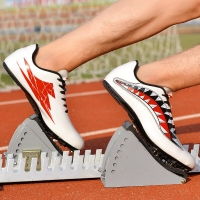 Men Track Field Shoes Lightweight Spikes Shoes Athlete Running Soft Tracking Shoes Training Mens Spike Race Sneakers 35-45