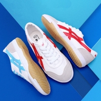 USHINE EU34-44 quality red blue canvas classic table retro Tennis shoes Fitness KungFu TaiChi shoes for man women