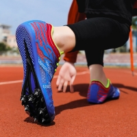 Track Spikes Shoes for Men Women Athletics Spike Shoes Running Sneakers Unisex Field Racing Shoes Male Female Plus Size 35-45