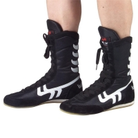 Professional Men Boxing Wrestling Shoes Women Cow Muscle Outsole Breathable Combat Sneakers Lace Up Boots Boxing Shoes A7027