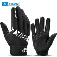 INBIKE Cycling Gloves Touch Screen MTB Bike Gloves Sport Shockproof Full Finger Reflective Winter Spring Bicycle Glove For Men
